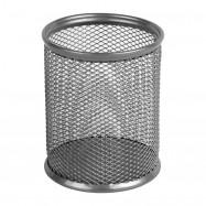 Подставка для ручек круглая 80х80х100мм, мет, серебро Axent