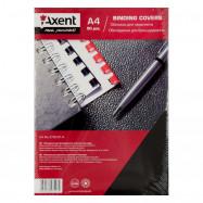 """Обкладинка картонна """"під шкіру""""А4,250г/м2  (50шт), чорна Axent"""