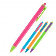 Ручка масляная автом. Reporter Color, синя Axent