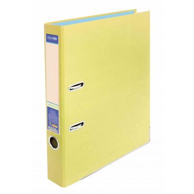 Папка-регистратор А4 Economix, 50 мм, светло-лимонная