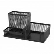 Подставка-органайзер 203x105x100мм металлическая, чёрная