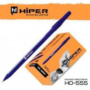 Ручка масляная Hiper Tri Grip HO-555 0.7 мм синяя