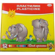 """Пластилин  """"Юный художник"""", стек, 168 г, 12 кол. Гамма Р"""