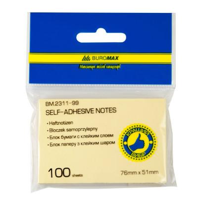 Блок для нотаток 51х76мм, 100л., ассорти BM2311-99