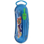 циркуль в пласт. пеналі з зап. гриф., 12.2 cм, метал., зел-блакит., 9023-04, CLASS