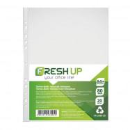 Папка-файл пластикова, А4+, 80 мкм, з перфорацією, глянсова фактура, 20 шт/уп