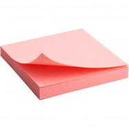Блок бумаги с липким слоем 75x75мм, 100л, роз