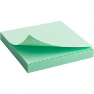 Блок бумаги с липким слоем 75x75мм, 100л, зел