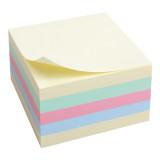 Блок бумаги с липким слоем 75x75мм,450л, паст.куб