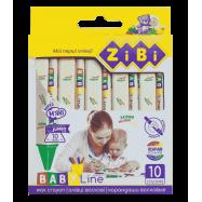 Карандаши восковые JUMBO, 10 цветов, треугольные, BABY Line