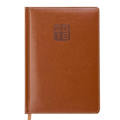 Ежедневник датированный 2019 BRAVO(Soft), A5, 336 л, коньячный