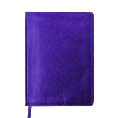 Ежедневник датированный 2019 METALLIC, A5, 336 л, фиолетовый