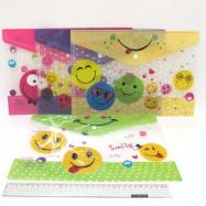 "IMG_4175 Папка - конверт с кнопкой ""Smile"" 18S A4, mix"