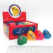 """Точилка с контейнером """"Сердечки"""" микс 24PC/Box (6508)"""