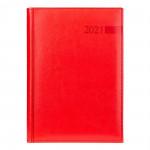 "Ежедневник А5 дат. ""Persona"" 2021, тверд., PU, 352 стр. красный"