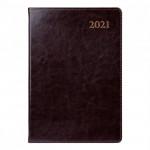 "Ежедневник А5 дат. Leo Planner ""Aldento"", 2021, интегр., 384+2 стр, коричневый"