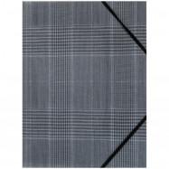 Папка на резинках, А4+, Tartan Gray