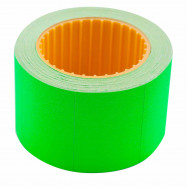 Ценник 35*25мм (240шт, 6м), прямоуг, внешняя намотка, зеленый