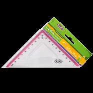 Треугольник 100мм, с розовой полоской, блистер