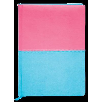 Ежедневник датированный 2018, Buromax, QUATTRO, розовый+бирюза, А6