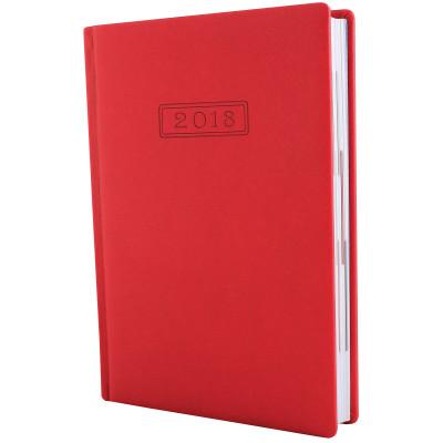 Ежедневник датированный 2018, Optima, MAGIC, красный, А5