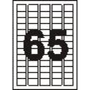 Этикетки белые 65 на листе
