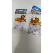 """CG9009 Магнит резиновый с календарем """"Веселые собачки"""" 10,5*6,5*0,5см mix"""