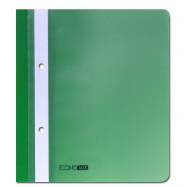 Папка-скоросшиватель А5 Economix с перф., зеленая, глянец