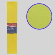 KR55-8030 Креп-бумага 55%, желтый 50*200см, 20г/м2