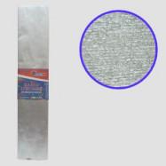 KRM-8060 Креп-бумага 30%, металлик серебристый 50*200см, 50г/м2