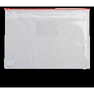 Папка-конверт А4, пласт. на молнии, BM3946-05 красный