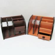 """BJ-8818-0/1 Органайзер настольный деревян. """"Penholder"""" 20,5*13,5*15см, mix2"""