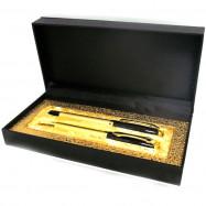 "11533 Набор подар. 2 ручки шар.+гел. в футляре ""Golden"""
