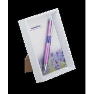 """Ручка кулькова """"Lavender"""", бузковий, в білій фоторамці"""