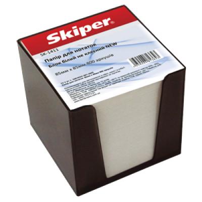 Блок паперу 85х85 800арк. інд упак мікс в пластик димчат боксі Skiper