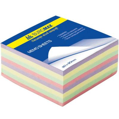Бумага для заметок цветная клеен.,  90*90*40мм Декор