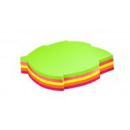 """Блок для нотаток з клейким шаром """"Листок"""" 45х50 мм Economix, 80 арк., неон мікс"""