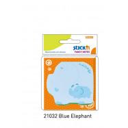 "Блок паперу клейк. фігурн. 30арк. кол. паст. блакит. ф. ""слонік"" арт. 21032 HOPAX"