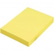 Блок для нотаток з клейким шаром 50х75 мм Format, 80 арк., жовтий