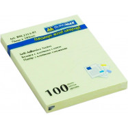 Блок для нотаток 76х102мм, 100арк., жовтий