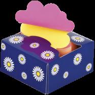 """Блок для нотаток """"Квітка"""" 76х76мм, 200арк., асорті"""