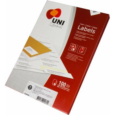 Этикетки самоклеющ. Uni Labels,А4, 210х297 мм, 1 шт на листе
