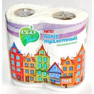 """Бумага туалетная ТМ""""Eco Line"""" 2 шар, 4 шт., белая (1блок-48шт)"""