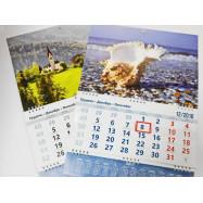 Календарь квартальный на трех пружинах FLASH 2018