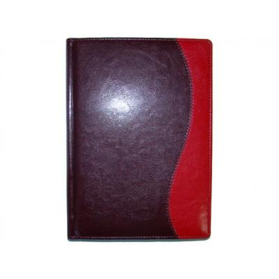 Ежедневник датированный 2017, Бриск, Комби К/03 55, красный+бордо, А5