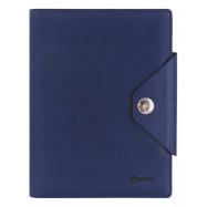 Органайзер со сменным блоком, OPTIMA Cabinet, кнопка, на кольцах, синий, 185х235