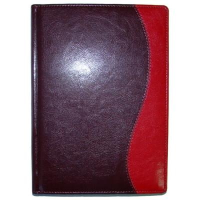 Ежедневник недатированный, Brisk, Комби К/03 43, бордо+красный, А5