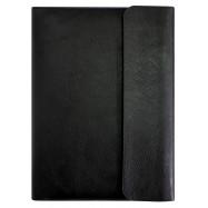 Бізнес-організатор на блискавці з клапаном, 184*260 мм, на кільцях, чорний, папір 80 г/м2, кремовий