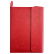 Бізнес-організатор на блискавці з клапаном, 184*260 мм, на кільцях, червоний, папір 80 г/м2, кремови