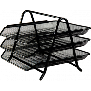 Лоток для бумаги  гор. 3 в 1 гориз.,350*295*270 мм, метал, черный